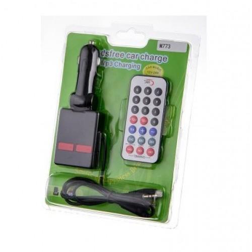 FM-модулятор М773 USB,TF,пульт Д.У. с кабелем AUX, nokia6101, microUSB