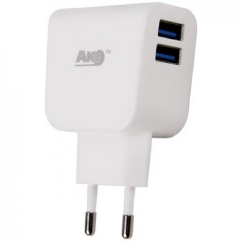 "Сетевое зарядное устройство ""Акс"" СЗУ-102 microUSB 2.1A"