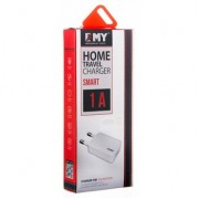 "Сетевое зарядное устройство EMY ""MY-223"" 1A + кабель microUSB 1m."
