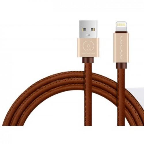 USB кабель WUW lightning 1m 2A ( в кожаном оплете )