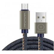 USB кабель WUW micro usb 1m. 2А. ( в джинсовом оплете )