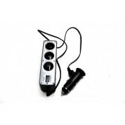Разветвитель автоприкуривателя +USB порт RGB TECH RG-0096
