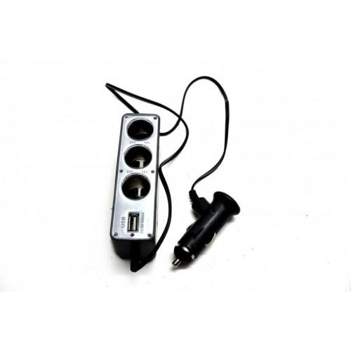 Разветвитель автоприкуривателя+USB порт RGB TECH RG-0096